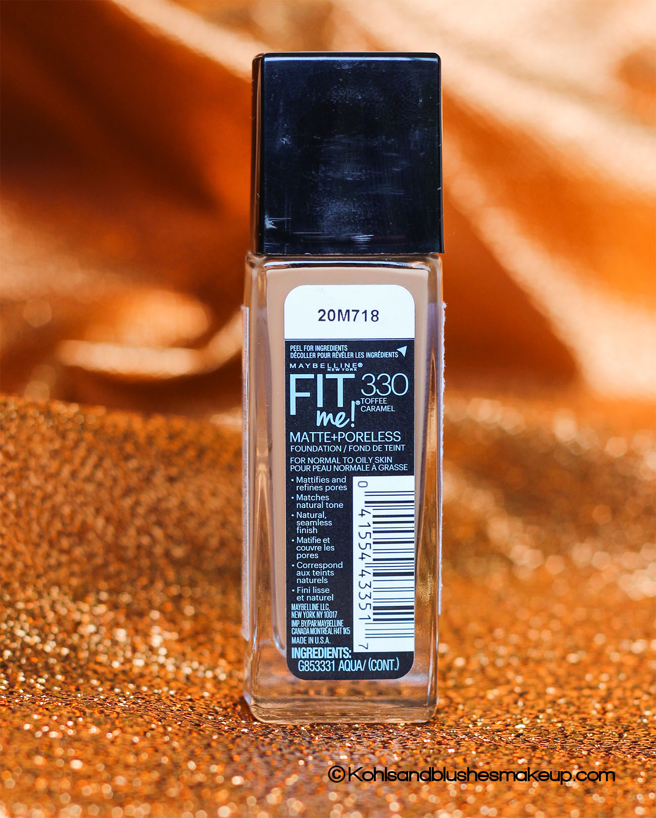 Maybelline Fit me Toffee caramel review
