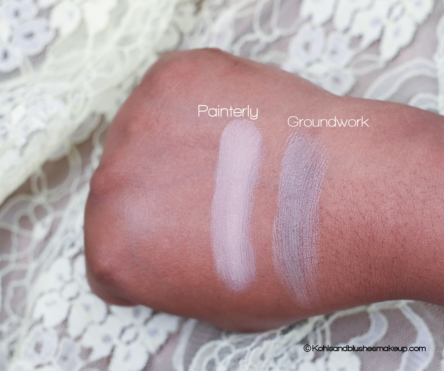 MAC Pro longwear Paint Pot and Groundwork swatch
